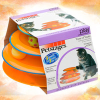 Petstages Tower Of Tracks Cat Toy Orange 317 uploaded by Heather A.