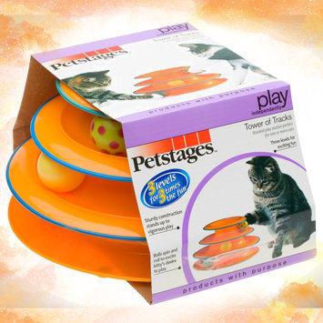 Photo of Petstages Tower Of Tracks Cat Toy Orange 317 uploaded by Heather A.