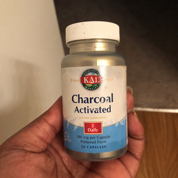 Photo of KAL Charcoal Activated 280 MG - 50 Capsules - Enzymes uploaded by Lovanda B.
