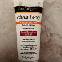 Neutrogena® Clear Face Break-Out Free Liquid Lotion Sunscreen Broad Spectrum SPF 30 uploaded by Amanda P.