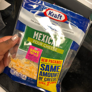 Photo of Kraft Shredded Finely Shredded Mexican Style Four Cheese Cheese 24 oz. Pouch uploaded by Jasmyn P.