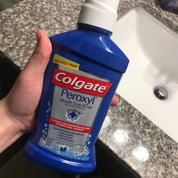 Photo of Colgate Peroxyl Mouth Sore Rinse, Mild Mint, 16.9 oz uploaded by Mary Katherine P.