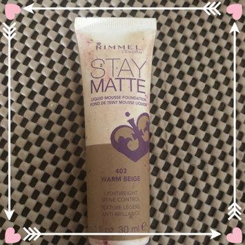 Photo of Rimmel Stay Matte Liquid Mousse Foundation uploaded by Gabriela V.