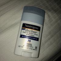Neutrogena® Ultra Sheer® Face + Body Stick Sunscreen Broad Spectrum SPF 70 uploaded by Casey D.