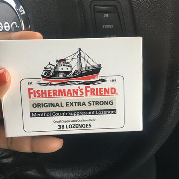 Photo of Fisherman's Friend Extra Strong Menthol Cough Suppressant Lozenges, Original uploaded by brianna p.