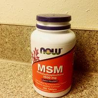 MSM (Methylsulphonylmethane) 1500mg 100 Tabs, NOW Foods uploaded by lizzyb24 M.