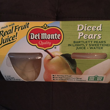Photo of Del Monte California Diced Pears in Light Syrup - 4 CT uploaded by Nikki w.