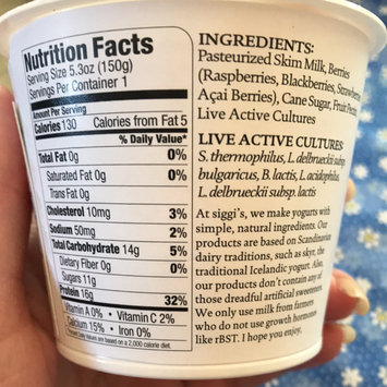 Photo of Siggi's Yogurt Non-Fat Acai & Mixed Berries uploaded by Stacy S.