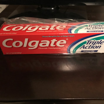 Photo of Colgate® Triple Action Fluoride Toothpaste Original Mint uploaded by Aqueesha A.
