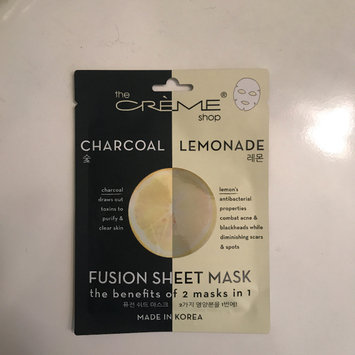 Photo of the CRÈME shop Charcoal & Lemon Fusion Sheet Mask uploaded by Sarah S.