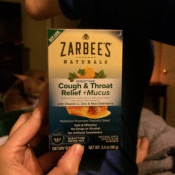 Photo uploaded to Zarbee's® Naturals Apple Spice Cough & Throat Relief + Mucus Nighttime Drink Mix Dietary Supplement—Hot 6 ct Box by Brandy L.