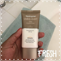 Neutrogena® Visibly Even® Daily Moisturizer with Sunscreen Broad Spectrum SPF 30 uploaded by Ashley W.