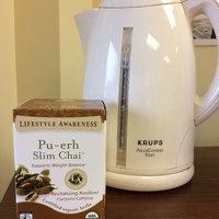 Tadin Tea Lifestyle Awareness Pu-erh Slim Chai Herbal Tea Supplement Tea Bags, 20 count, 1.05 oz, (Pack of 6) uploaded by Sarah S.