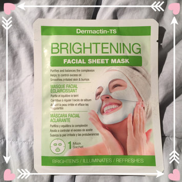 Photo of Dermactin - Ts Dermactin-TS Facial Sheet Mask Brightening uploaded by Leslie G.