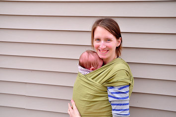 Photo of Moby Wrap Organic Baby Carrier uploaded by Lauren M.