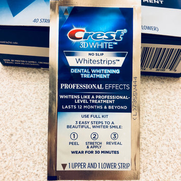 Photo of Crest 3D White Luxe Professional Effects Whitestrips Teeth Whitening Kit uploaded by Louie A.