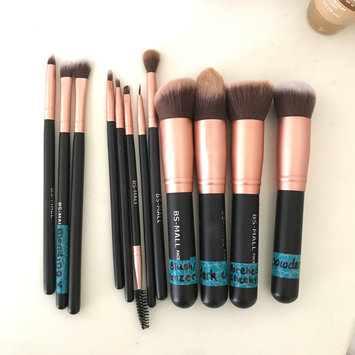 Photo of BS-MALL(TM) Premium Synthetic Kabuki Makeup Brush Set Cosmetics Foundation Blending Blush Eyeliner Face Powder Brush Makeup Brush Kit uploaded by Bella E.
