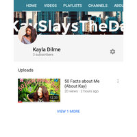 YouTube uploaded by Kayla D.