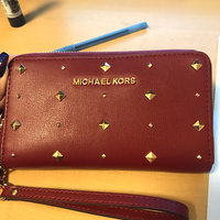 Michael Kors Wallet: Jet Set Travel Metallic Leather Continental Wallet in Pale Gold uploaded by Diana R.