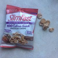 SlimFast® Advanced Nutrition 100 Calorie Cinnamon Bun Swirl Drizzled Crisps 1 oz. Bag uploaded by Rebeca D.