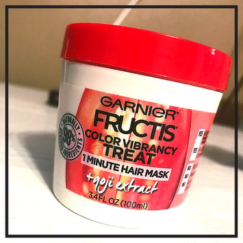 Photo of Garnier Fructis Color Vibrancy Treat 1 Minute Hair Mask + Goji Extract uploaded by Kelsie C.