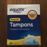 Platinum Equate Regular Tampons Pkg of 40 Compare to Tampax Pearl uploaded by Jill R.