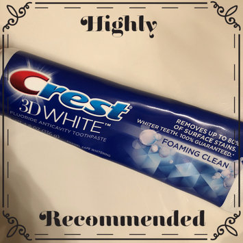 Photo of Crest 3D White Foaming Clean Whitening Toothpaste, 4.8 oz uploaded by Wendy C.