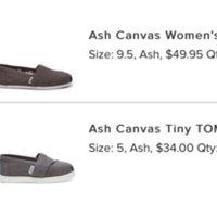 TOMS Womens Classic Canvas Slip On Ash 001001B07-Grey uploaded by Amanda O.