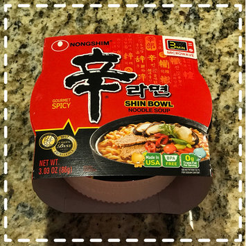 Photo of Nongshim Shin Bowl Noodle Soup Gourmet Spicy uploaded by Himali B.