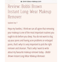 BOBBI BROWN Instant Long-wear Makeup Remover uploaded by Cinmi W.