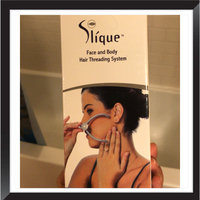 Slique TM Slique Eyebrow Face and Body Hair Threading and Removal System. Amazing at home quick and painless hair removal system using the ancient technique of Threading to remove ALL unwanted facial hair. uploaded by Himali B.