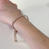 Michael Kors Rose Gold-Tone Crystal Bar Slide Bracelet uploaded by Éira H.