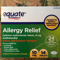 Equate - Allergy Cetirizine 10 mg, 14 Tablets (Compare to Zyrtec) uploaded by Jill R.