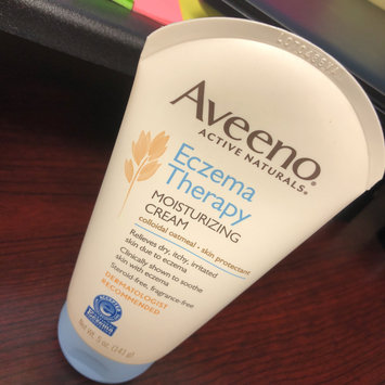 Photo of Aveeno Active Naturals Eczema Therapy Moisturizing Cream uploaded by Khadijah N.