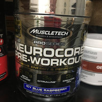 MuscleTech Pro Series Neurocore Pre-Workout Icy Blue Raspberry Dietary Supplement, 8.99 oz uploaded by Jenny H.