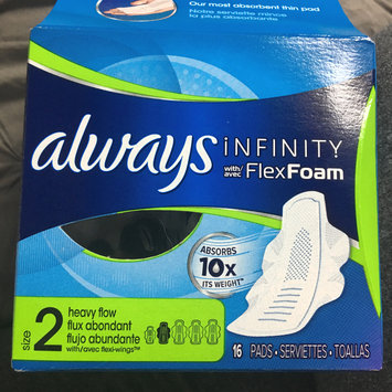 Photo of Always Infinity Size 2 Super Pads Non-Wings Unscented uploaded by Meaghan B.
