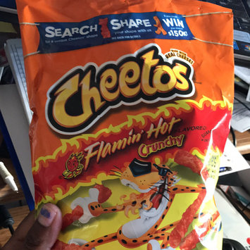 Cheetos Flamin' Hot Crunchy Cheese Flavored Snacks uploaded by faaizah v.