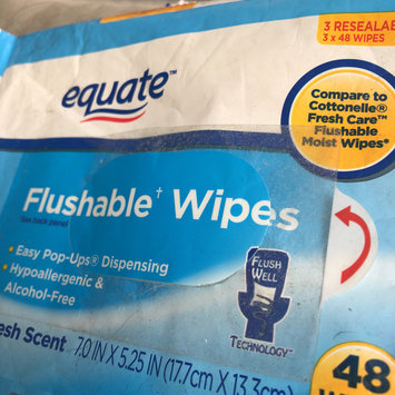 Photo of Equate Fresh Scent Flushable Wipes, 48 sheets, (Pack of 3) uploaded by Alexxandria H.