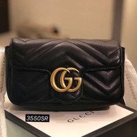 Versace GG Marmont Matelassé Leather Super Mini Bag uploaded by Maha A.