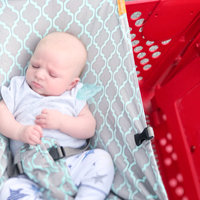 Baby Shopping Cart Hammock in White/Grey Triangles uploaded by Chelsea P.