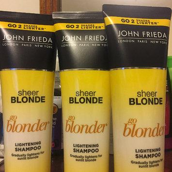 Photo of John Frieda® Sheer Blonde Go Blonder Lightening Shampoo uploaded by Rebeca L.