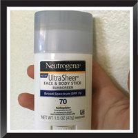 Neutrogena UltraSheer Face & Body Stick Sunscreen, SPF 70 1.5 oz.(pack of 3) uploaded by Cassie D.