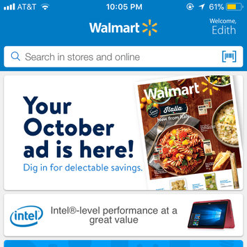 Photo of Walmart App uploaded by Edith C.