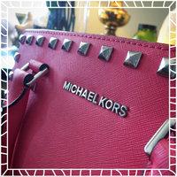Michael Kors Sutton Medium Saffiano Leather Satchel Handbag in Black uploaded by Kerri D.