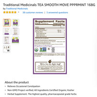 Traditional Medicinals Organic Smooth Move® Peppermint Tea uploaded by Jennifer J.