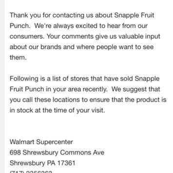 Photo of Snapple Fruit Punch Juice uploaded by Bonita S.