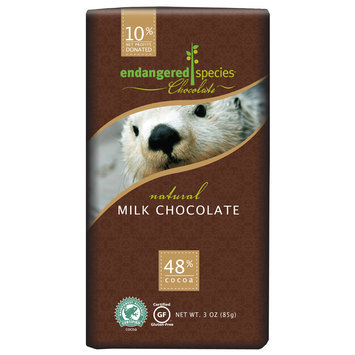 Endangered Species Chocolate Milk Chocolate Bar Natural - Otter uploaded by Lexi E.