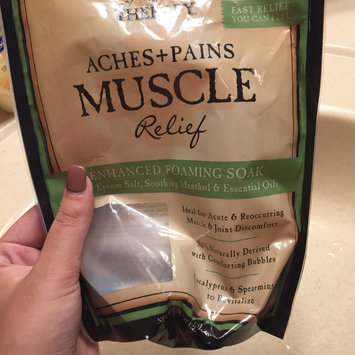 Photo of Village Naturals Therapy Aches+Pains Muscle Relief Foaming Bath Soak with Epsom Salt, 36 oz uploaded by Brianna G.