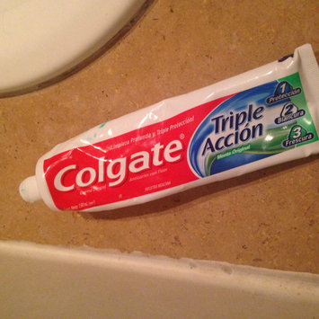 Photo of Colgate® Triple Action Fluoride Toothpaste Original Mint uploaded by carolina o.