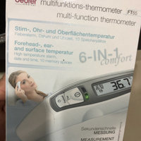 Beurer Forehead and Object Thermometer, No Contact, High Accuracy, and Large Blue Backlit Display, FT90 uploaded by Amber Z.